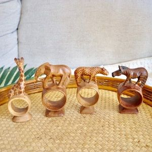 Other - Handcrafted wooden animal napkin rings